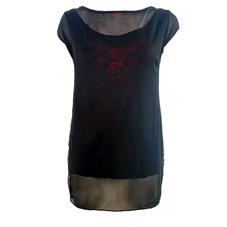 Spiral Direct Blood Rose Top (Black)
