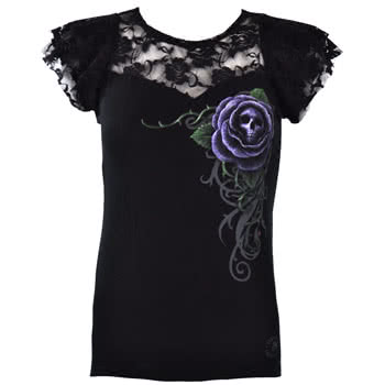 Spiral Direct Poison Rose Top (Black)