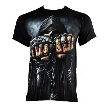 Spiral Direct Game Over T Shirt (Black)