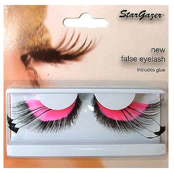 Stargazer No.53 Pink Feathered False Eye Lashes