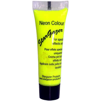 Stargazer Tube of Neon Special Effects Face and Body Paint (Yellow)