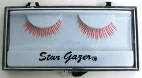 Stargazer UV36 False Eye Lashes (Red/White)