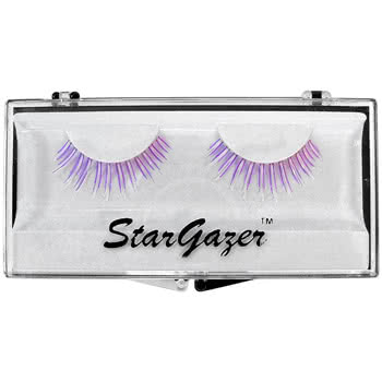 Stargazer Purple/White UV False Eye Lashes