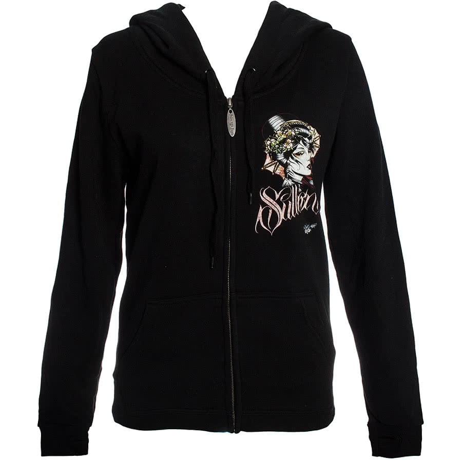 Sullen Angels Envy Skinny Fit Hoodie (Black)
