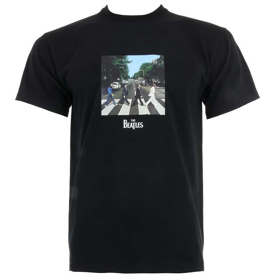 The Beatles Abbey Road T Shirt (Black)