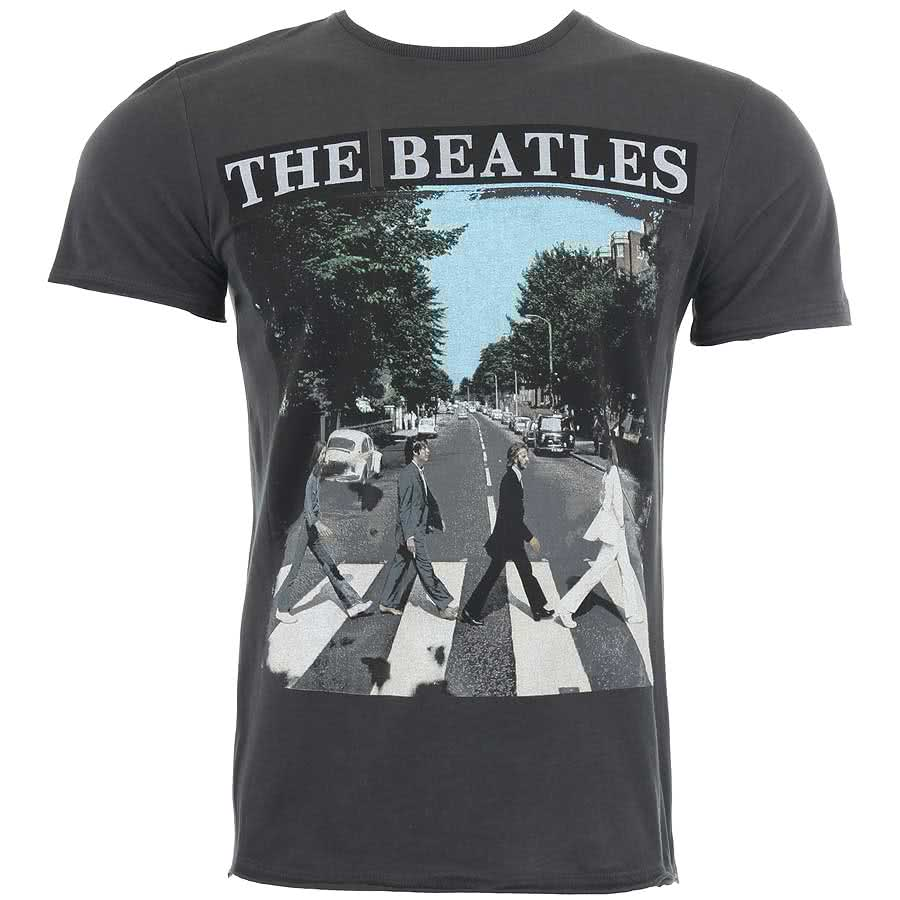 The Beatles Abbey Road Premium T Shirt (Grey)