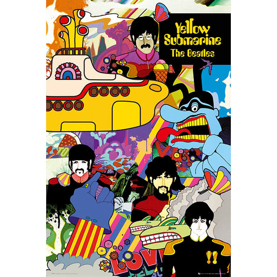 The Beatles Yellow Submarine poster - Yellow Submarine ...