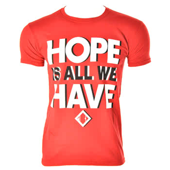 The Blackout Hope T Shirt (Red)
