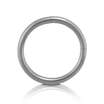 Blue Banana Steel Segment Ring 1.2mm
