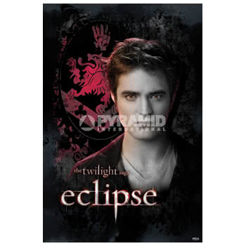 The Twilight Saga Eclipse Edward Crest Print Poster (Black)