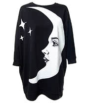 Kill Star Moonchild Batwing Sweater (Black)