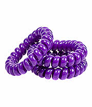 Blue Banana Spiral Slinky Pack Of 3 Hair Bands (Purple)