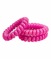 Blue Banana Spiral Slinky Pack Of 3 Hair Bands (Pink)