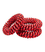 Blue Banana Spiral Slinky Pack Of 3 Hair Bands (Red/Black)