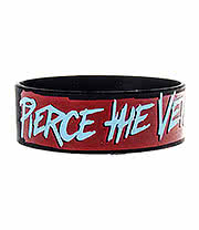 Pierce The Veil Wristband (Red/Blue)
