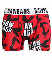 Bawbags Cock Guys Boxers (Red)