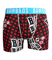Bawbags Rotten Guys Boxers (Black/Red)