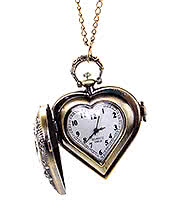 Extreme Largeness Heart Watch Necklace
