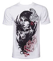 Sullen Black Feather T Shirt (White)
