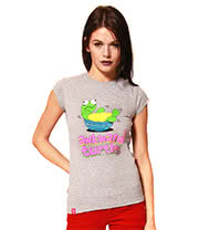 Flip Flop & Fangs Awkward Turtle Skinny T Shirt (Grey)