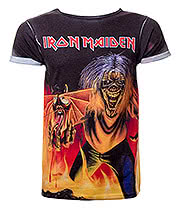 Iron Maiden Number Of The Beast Premium T Shirt (Multi Coloured)
