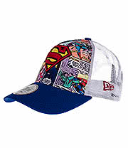 New Era Superman Comic Snapback Trucker Hat