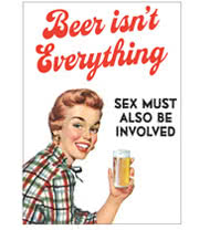 Beer Isnt Everything Retro Novelty Card (White)