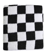 Blue Banana Checker Pattern Sweatband (Black/White)