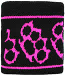 Knuckle Duster Patterned Sweatband (Black/Pink)