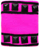 Neon Studded Sweatband (Pink/Black)