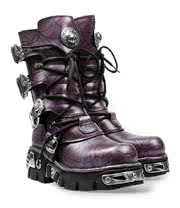 New Rock Boots Style 391 (Black/Purple)