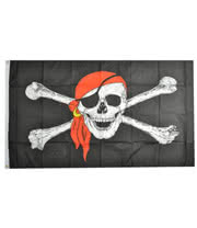 Blue Banana Pirate Bandana Flag