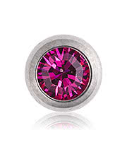 Blue Banana Polished Titanium 1.6mm Jewel Ball (Fuchsia)