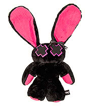 "Luv Bunny Plush Toy 10"" (Black/Pink)"