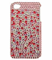 Blue Banana Crystal Phone Case (Pink)