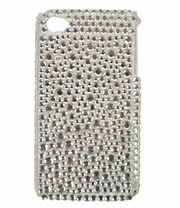 Blue Banana Crystal Phone Case (White)
