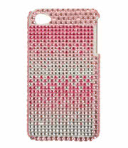 Blue Banana Crystal Phone Case (Pink/White)
