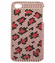 Blue Banana Crystal Phone Case (Pink/Black)