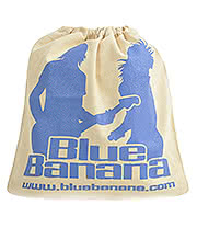 Blue Banana Canvas Drawstring Bag