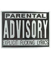 Blue Banana Parental Advisory Belt Buckle