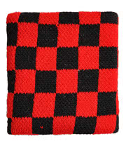Blue Banana Checker Pattern Sweatband (Black/Red)