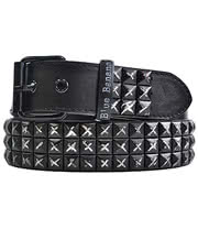 Blue Banana Distressed 3 Row Studded Belt (Black)