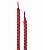 Blue Banana Red/Black Checked Laces