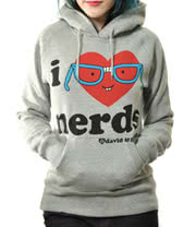 David and Goliath I Love Nerds Hoodie