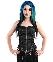 Spin Doctor by Hell Bunny Steampunk Corset Top (Black)