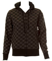 Blue Banana Checked Hoodie (Black/Grey)