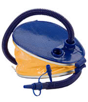 8 Inch Bellows Foot Pump with Attachable Hose (Blue)