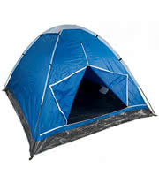 3 Man Monodome Festival Camping Tent with Carry Bag (Blue)