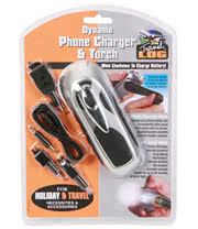 Phone Charger & Dynamo 3 LED Bulb Torch Kit (Black)