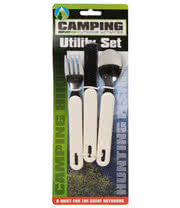 3 Piece Camping Utility Set (White)
